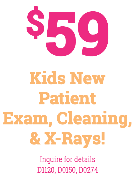 Kids Exam, Cleaning, and X-Rays Special